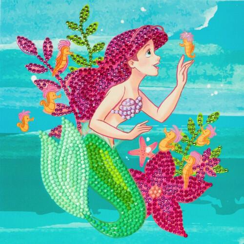 Crystal Art Disney Card Kit - The Little Mermaid