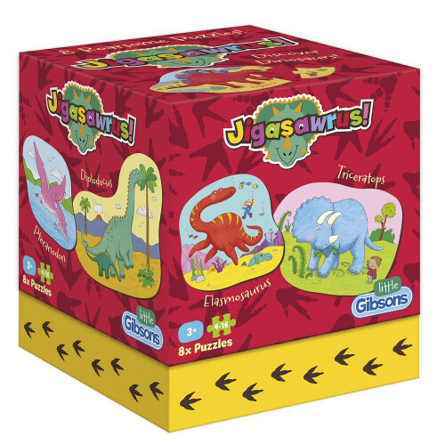 Gibsons Jigasawrus 8 Roarsome Puzzles
