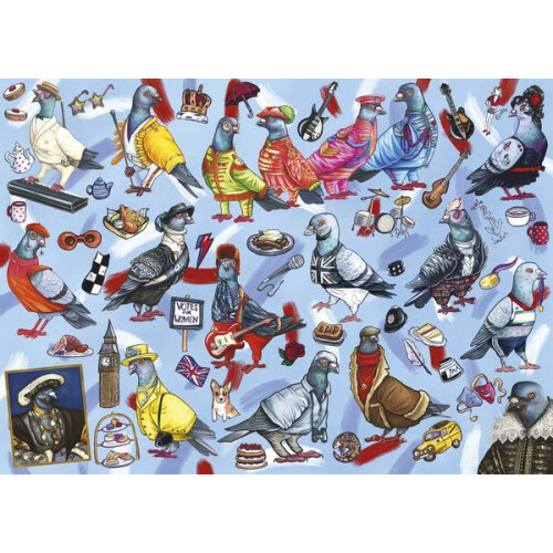 Gibsons Pigeons Of Britain 1000pc Puzzle