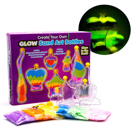 Create Your Own Glow Sand Art Bottles
