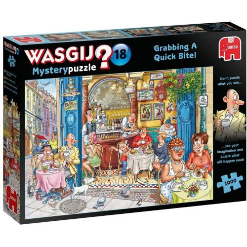 Wasgij? Mystery 18 1000pc Jigsaw Puzzle Grabbing A Quick Bite!