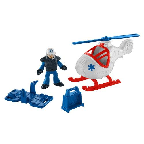 Imaginext City Helicopter & Medic