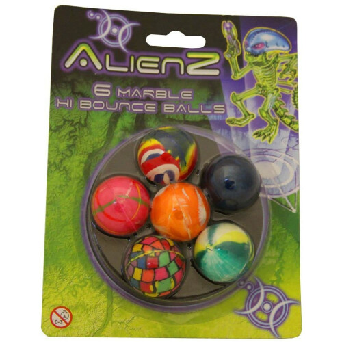 Alienz 6 Marble Hi Bounce Balls