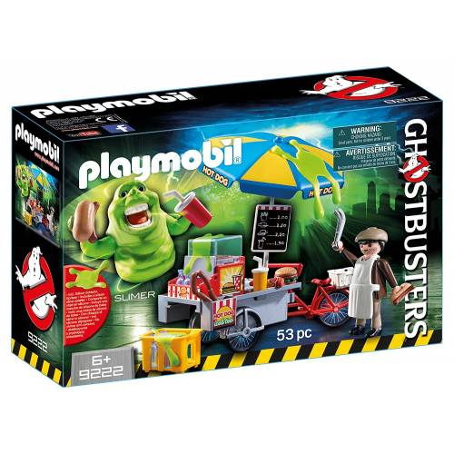 Playmobil Ghostbusters 9222 Hot Dog Stand with Slimer