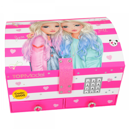 Depesche Top Model Jewellery Box with Code and Sound, June and Jill