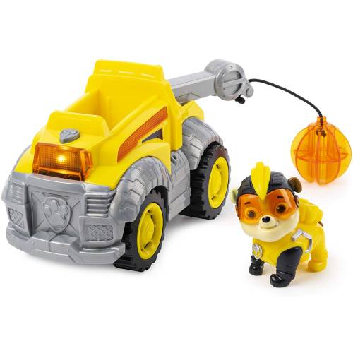 Paw Patrol Mighty Pups Super Paws - Rubble Deluxe Vehicle