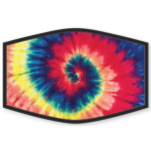 Washable Face Protector - Adult Size - Tie Dye Spiral
