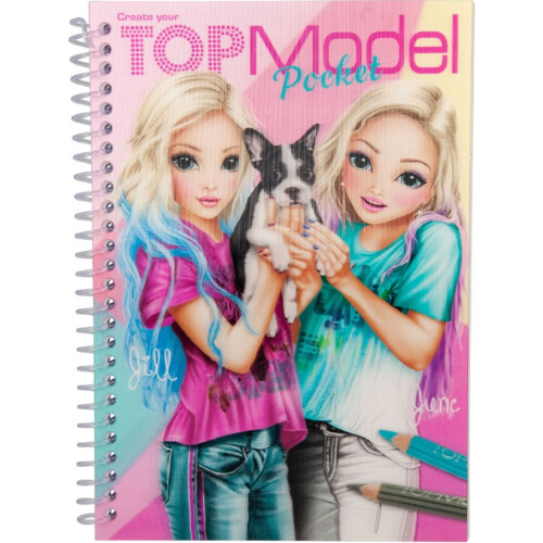 Depesche Top Model Pocket Colouring Book with 3D Cover - Jill & June