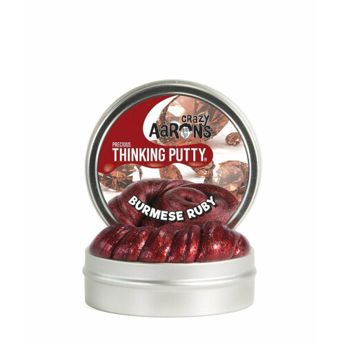 Crazy Aarons Thinking Putty Precious - Burmese Ruby