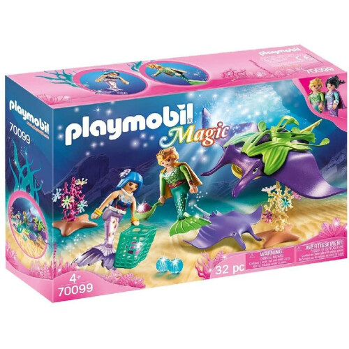 Playmobil 70099 Magic Pearl Collectors with Manta Ray