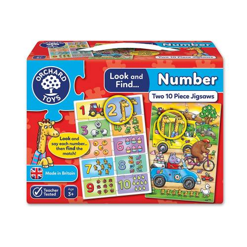 Orchard Look and Find Number Jigsaw Puzzle