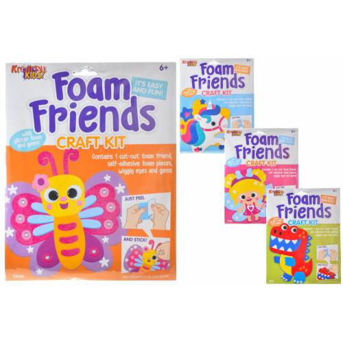 Kreative Kids - Foam Friends Craft Kit - Assorted