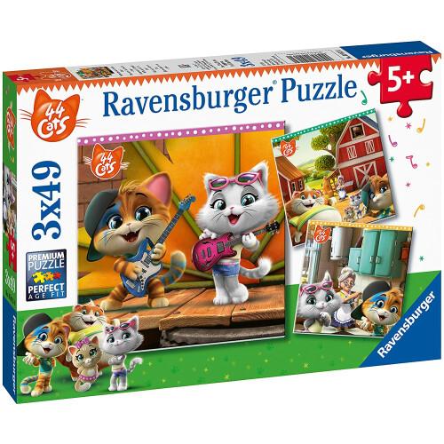 Ravensburger 3 x 49pc Puzzles 44 Cats
