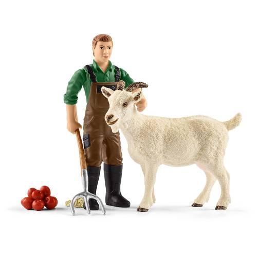 Schleich Farm Life Accessories 42375 Farmer with Goat