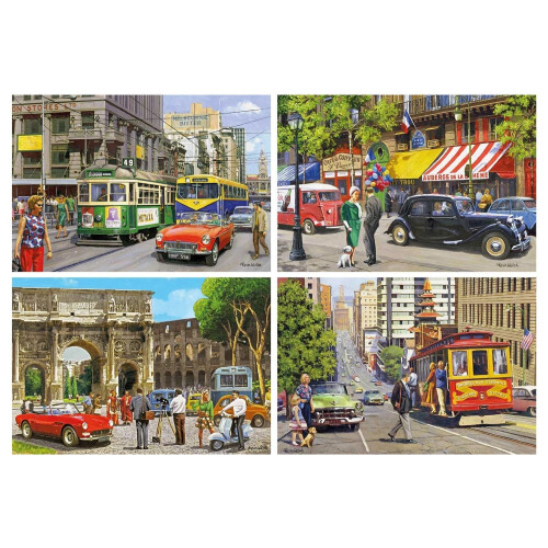 Gibsons Cities Of The World 4x 500pc Puzzles