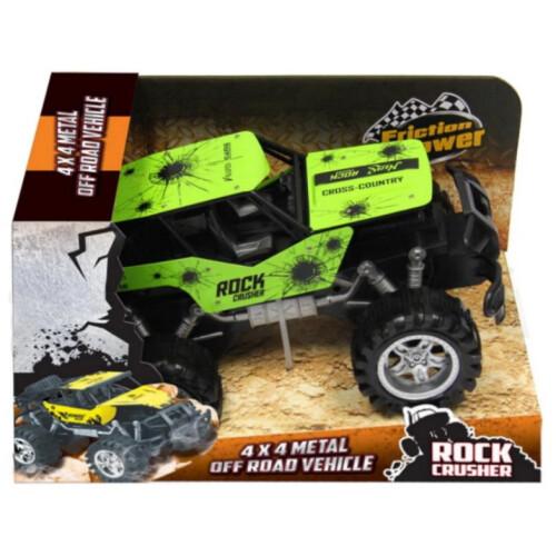 Rock Crusher 4x4 Metal Off Road Vehicle 30cm - Green