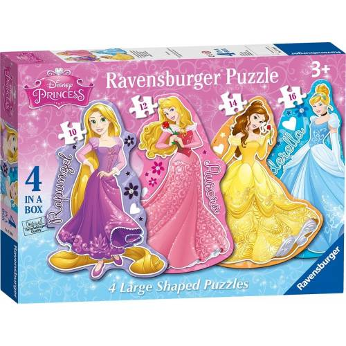 Ravensburger 4 Large Shaped Puzzles Disney Princess