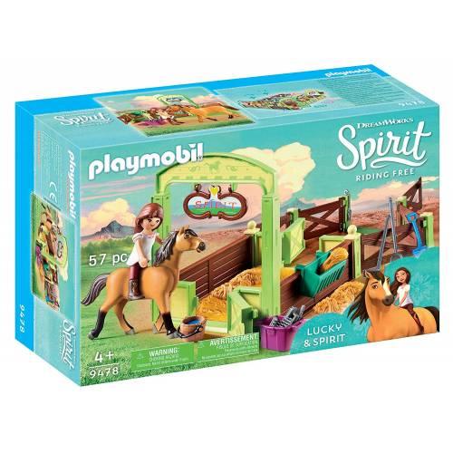 Playmobil Spirit 9478 Lucky & Spirit Horse Stall