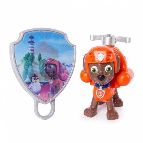 Paw Patrol Action Pack Pup with Extendable Hook and Badge - Zuma