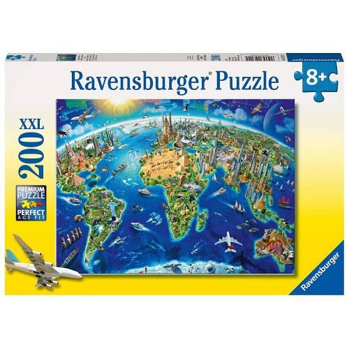 Ravensburger 200 XXL Piece Puzzle World Landmarks Map