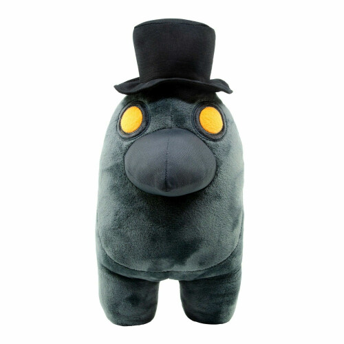 Among Us 12 Inch Plush - Black with Top Hat