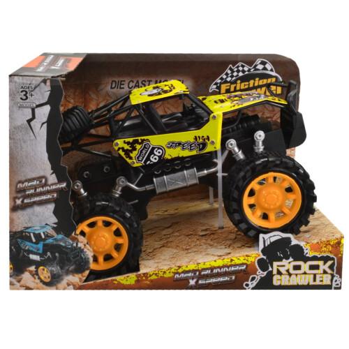 Rock Crawler 4x4 Metal Off Road Vehicle 20cm - Yellow