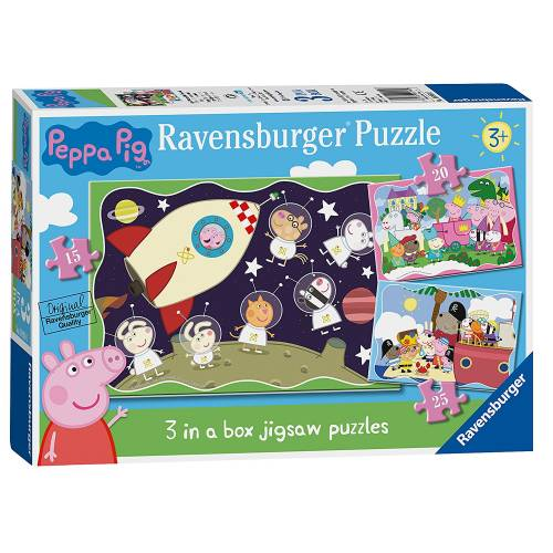Ravensburger 3 in Box Puzzle Peppa Pig