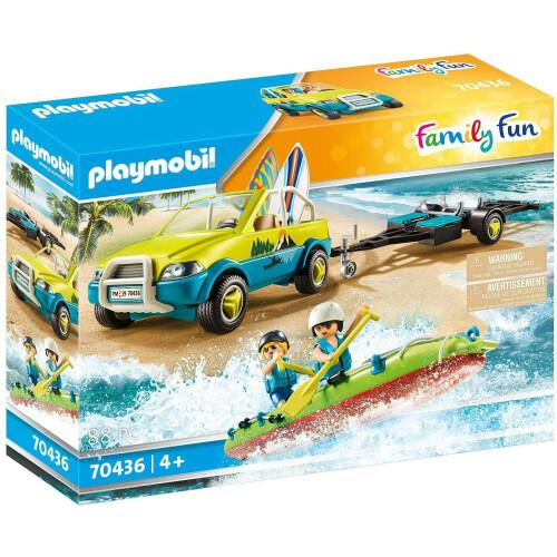 Playmobil  70436 Family Fun Beach Car With Canoe