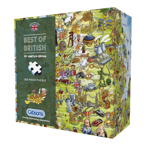 Gibsons Best of British 500pc Puzzle