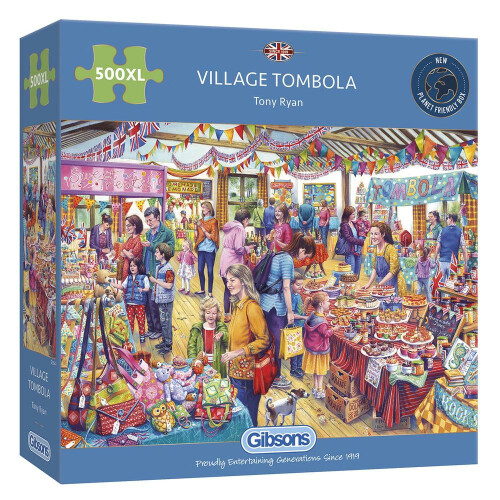 Gibsons Village Tombola 500pc XL Puzzle