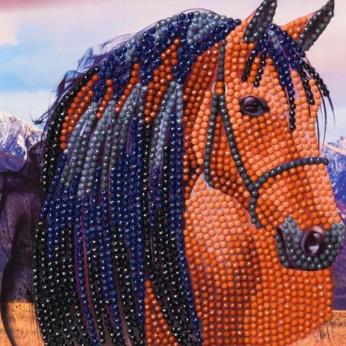 Crystal Art Card Kit - Horse