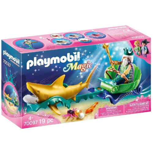 Playmobil 70097 Magic King of the Sea with Shark Carriage
