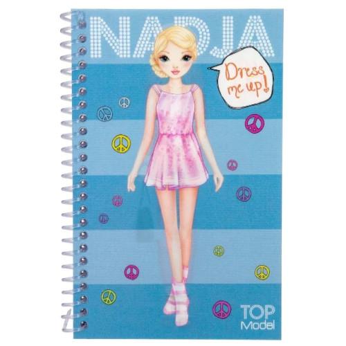 Depesche Top Model Dress Me Up Pocket Stickerbook - Nadja