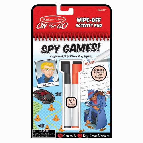 Melissa & Doug Wipe-Off Activity Pad - Spy Games!