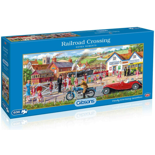 Gibsons  Railroad Crossing 636pc Puzzle