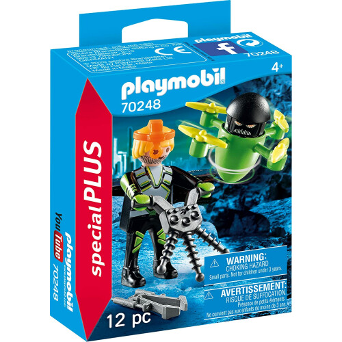 Playmobil 70248 Agent With Drone