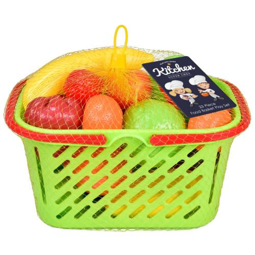 Kitchen Super Chef - 23 Piece Food Basket Play Set