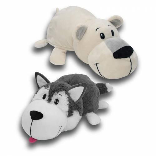"FlipaZoo 16"" Plush - Husky / Polar Bear"
