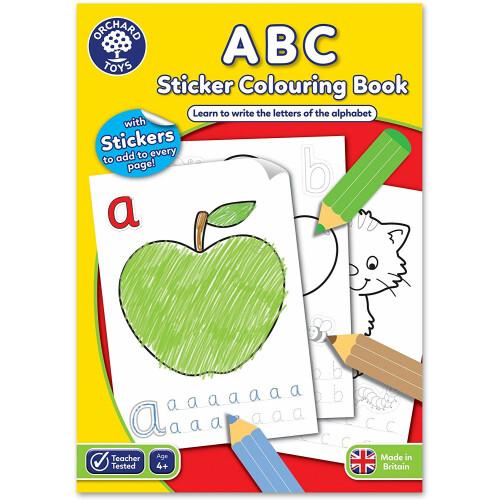Orchard ABC Sticker Colouring Book