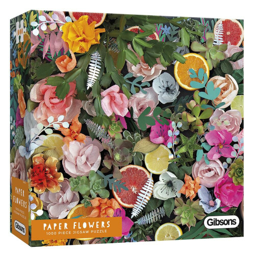 Gibsons Paper Flowers 1000pc Puzzle