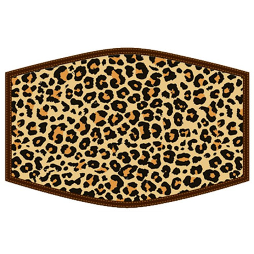 Washable Face Protector - Adult Size - Leopard