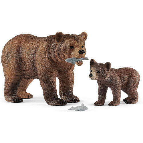 Schleich Wild Life 42473 Grizzly Bear Mother with Cub