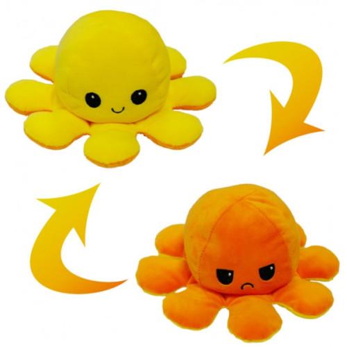 Flippable Octoplush - Happy Yellow / Angry Orange