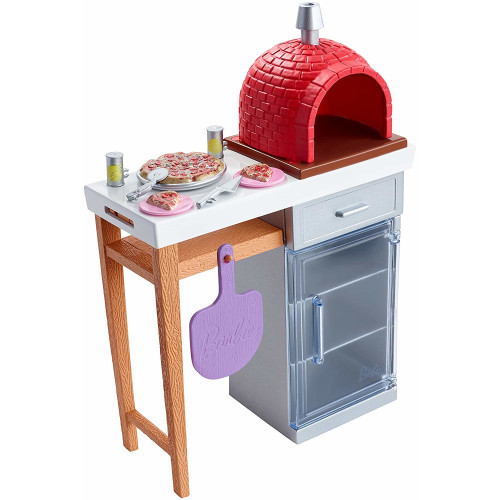 Barbie Accessory Pack - Outdoor Furniture Set Brick Pizza Oven