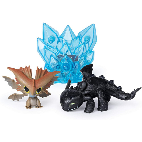 Dragons Bioluminescent Mini Dragons - Toothless + Cloudjumper