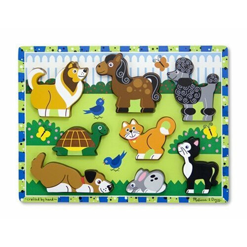 Melissa & Doug Pets Wooden Chunky Puzzle