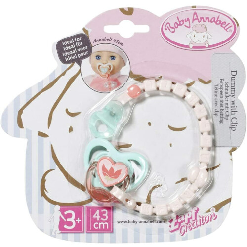 Baby Annabell Dummy With Clip - Flower