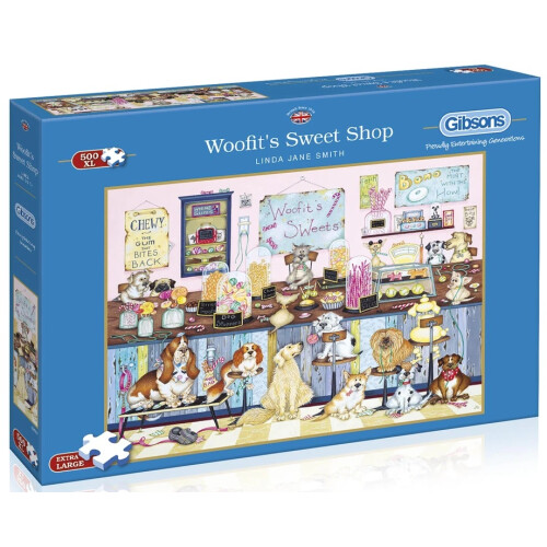 Gibsons Woofit's Sweet Shop 500pc XL