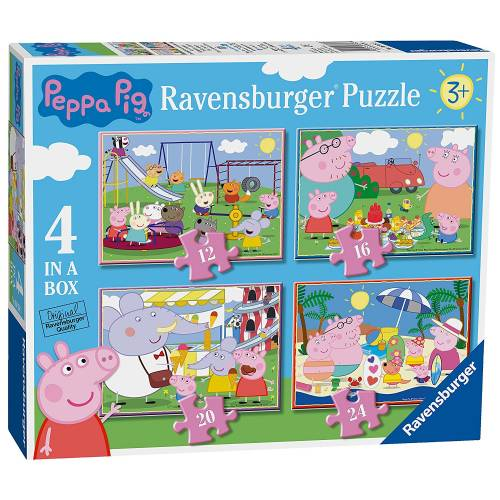 Ravensburger 4 Puzzles in a Box Peppa Pig