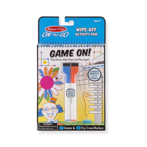 Melissa & Doug Wipe-Off Activity Pad - Game On!